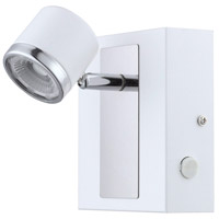 Eglo 94556A Pierino 1 LED 5 inch White and Chrome Wall Light