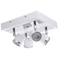 Eglo 94559A Pierino 1 4 Light 120V White and Chrome Track Light Ceiling Light