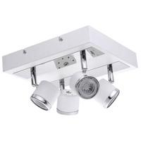 Eglo 94559A Pierino 1 4 Light 120V White and Chrome Track Light Ceiling Light