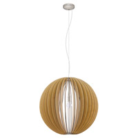 Eglo 94766A Cossano 1 Light 28 inch Matte Nickel Pendant Ceiling Light
