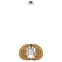 Eglo 94767A Cossano 1 Light 18 inch Matte Nickel Pendant Ceiling Light