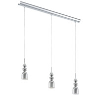Eglo 95556A Bolanos LED 28 inch Chrome Linear Pendant Ceiling Light