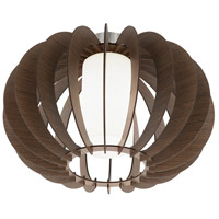 Stellato III 1 Light 16 inch Dark Brown Semi Flush Mount Ceiling Light