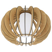 Stellato I 1 Light 16 inch Maple Semi Flush Mount Ceiling Light