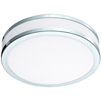 Palermo II LED 11 inch Chrome and White Flush Mount Ceiling Light