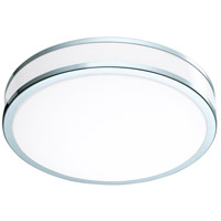 Palermo II LED 16 inch Chrome and White Flush Mount Ceiling Light