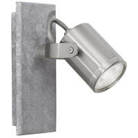 Eglo 95741A Praceta LED 6 inch Concrete Grey and Matte Nickel with Chrome Wall Light