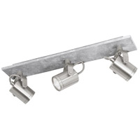 Eglo 95743A Praceta 3 Light 120V Concrete Grey and Matte Nickel with Chrome Track Light Ceiling Light