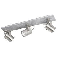 Eglo 95743A Praceta 3 Light 120V Concrete Grey and Matte Nickel with Chrome Track Light Ceiling Light