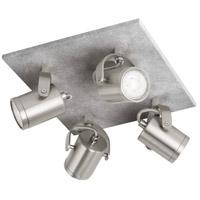 Eglo 95744A Praceta 4 Light 120V Concrete Grey and Matte Nickel with Chrome Track Light Ceiling Light
