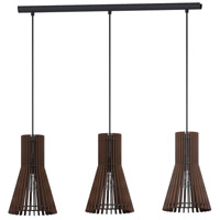Atenza 3 Light 31 inch Matte Nickel Linear Pendant Ceiling Light