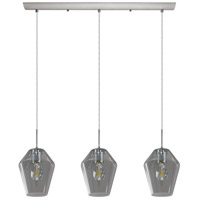 Murmillo 3 Light 30 inch Matte Nickel Linear Pendant Ceiling Light