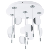 Eglo 96968A Olindra LED 16 inch White and Chrome Semi Flush Mount Ceiling Light
