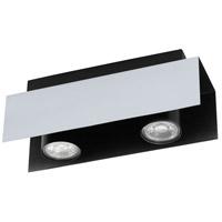 Eglo 97395A Viserba 2 Light 120V Aluminum and Black Track Light Ceiling Light