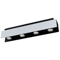 Eglo 97397A Viserba 4 Light 120V Aluminum and Black Track Light Ceiling Light