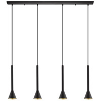 Eglo 97605A Cortaderas LED 40 inch Matte Black Linear Pendant Ceiling Light