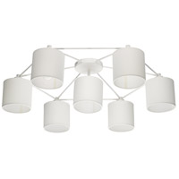 Eglo 97903A Staiti 7 Light 33 inch White Semi Flush Mount Ceiling Light