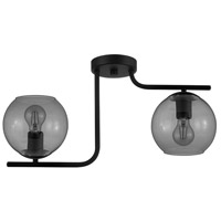 Eglo 98514A Marojales 2 Light 7 inch Matte Black Semi-Flush Mount Ceiling Light