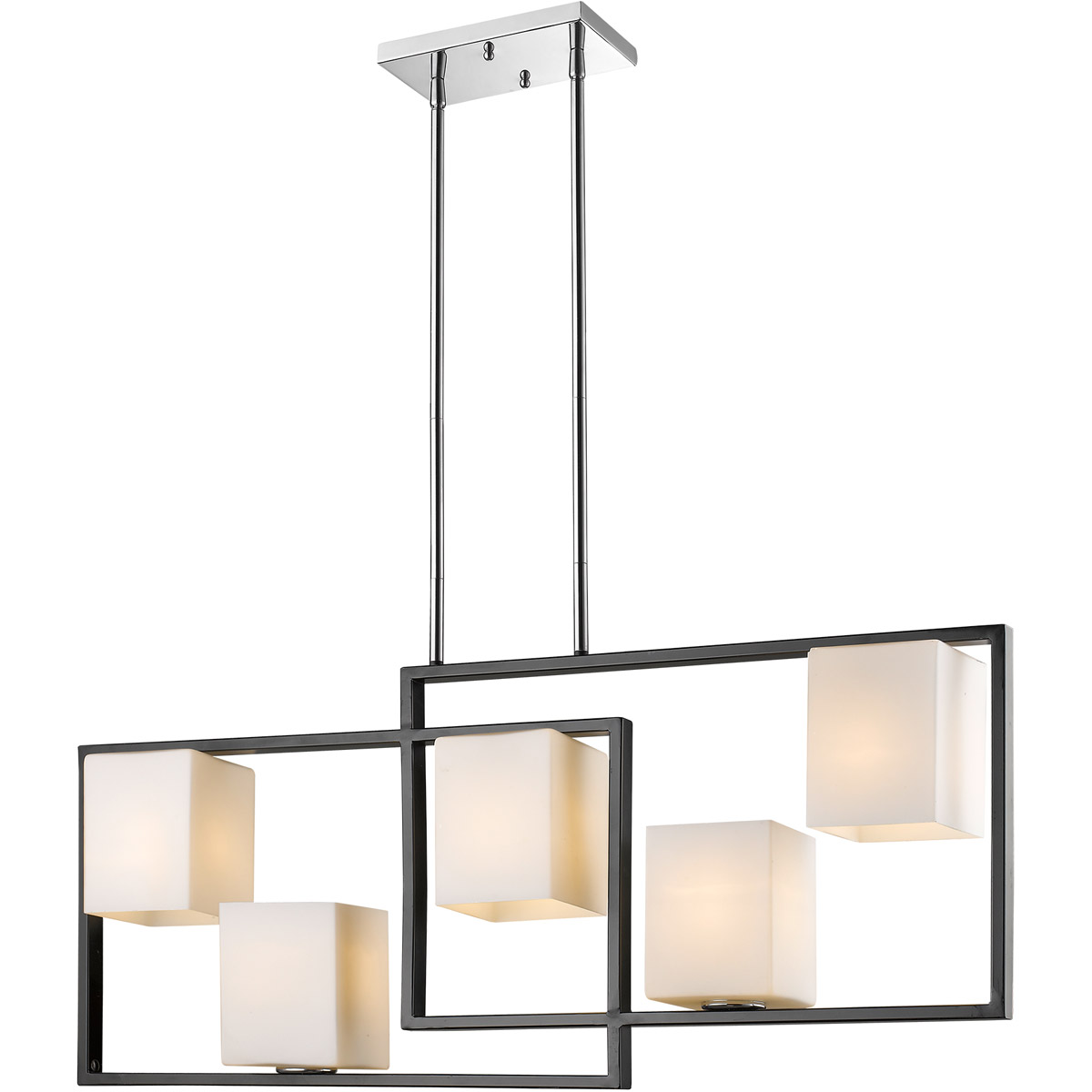 led lamp eglo chrome cartama lighting pendant square bar shades light with polished pin