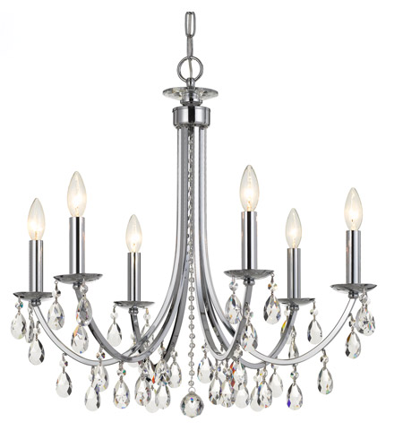 Elight Design ED03606CH Signature 6 Light 27 inch Chrome Chandelier Ceiling Light photo thumbnail