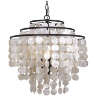 Capiz 3 Light 18 inch Bronze Chandelier Ceiling Light