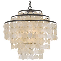 Capiz 4 Light 18 inch Bronze Chandelier Ceiling Light