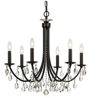 Signature 6 Light 27 inch Bronze Chandelier Ceiling Light