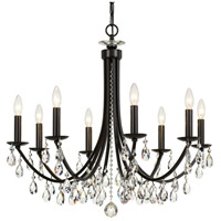 Crystal 8 Light 29 inch Bronze Chandelier Ceiling Light