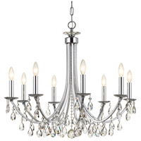 Crystal 8 Light 29 inch Chrome Chandelier Ceiling Light