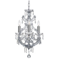 Elight Design ED03704CH Signature 4 Light 12 inch Chrome Mini Chandelier Ceiling Light