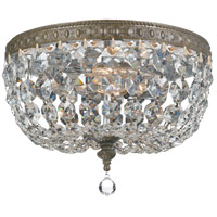 Crystal 2 Light 10 inch Bronze Ceiling Mount Ceiling Light