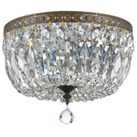 Crystal 3 Light 12 inch Bronze Ceiling Mount Ceiling Light