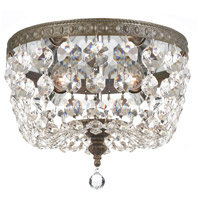 Crystal 2 Light 8 inch Bronze Ceiling Mount Ceiling Light