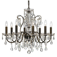 Crystal 8 Light 26 inch Bronze Chandelier Ceiling Light