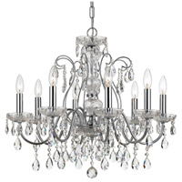 Crystal 8 Light 26 inch Chrome Chandelier Ceiling Light