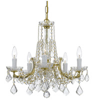 Elight Design ED06605GD Signature 5 Light 20 inch Gold Chandelier Ceiling Light