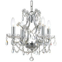 Elight Design ED06704CH Signature 4 Light 18 inch Chrome Mini Chandelier Ceiling Light