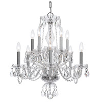 Crystal 10 Light 23 inch Chrome Chandelier Ceiling Light