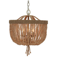 Coastal 3 Light 16 inch Natural Chandelier Ceiling Light