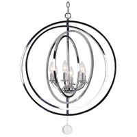Modern 6 Light 23 inch Chrome Chandelier Ceiling Light
