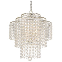 Crystal 3 Light 18 inch Silver Chandelier Ceiling Light