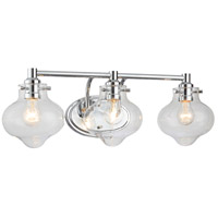 Signature 3 Light 25 inch Polished Chrome Bath Vanity Wall Light