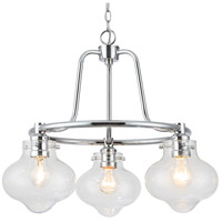Elight Design ED666663CH Signature 3 Light 21 inch Polished Chrome Chandelier Ceiling Light