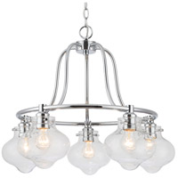 Elight Design ED666665CH Signature 5 Light 25 inch Polished Chrome Chandelier Ceiling Light