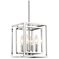 Elight Design ED884124CH Signature 4 Light 8 inch Polished Chrome Pendant Ceiling Light