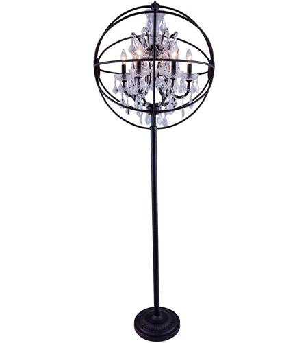 urban classic by elegant lighting geneva 6 light floor lamp in dark. Black Bedroom Furniture Sets. Home Design Ideas