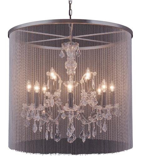 Elegant Lighting 1131d31mb Rc Brooklyn 12 Light 32 Inch Matte Black Pendant Ceiling Urban Clic