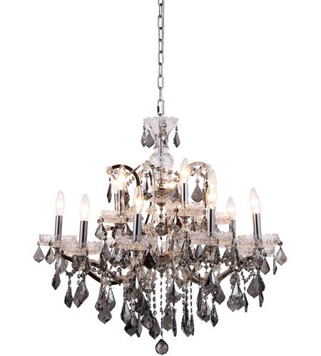Elegant Lighting Dpn Ssrc Elena  Inch Polished Nickel Chandelier Ceiling Light