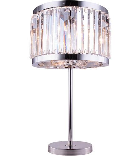Elegant lighting 1203tl18pnrc chelsea 32 inch 60 watt polished elegant lighting 1203tl18pnrc chelsea 32 inch 60 watt polished nickel table lamp portable light in clear urban classic mozeypictures Gallery