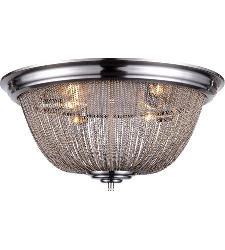 Elegant Lighting 1210f24pw Paloma 4 Light 24 Inch Pewter Flush Mount Ceiling Urban Clic
